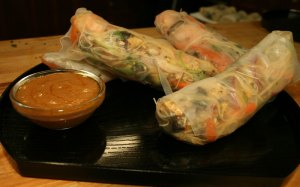Chia Seed Fresh Rice Paper Rolls.
